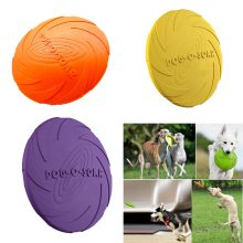 Soft Eco-friendly Natural Rubber Pet Dog Toy Frisbee Flying Disc