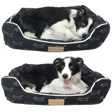 Cartoon Dog Patterned Pet Bed