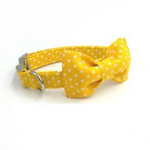 Yellow Dog Collar with Bowtie
